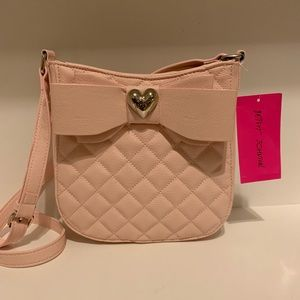Betsey Johnson Quilted Crossbody with Bow